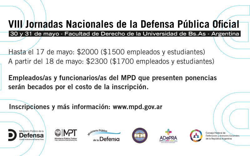 VIII Jornadas Nacionales de la Defensa Pública Oficial