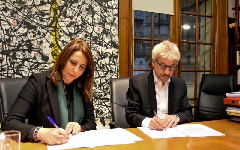 Firma de Convenio con la Relatora de la CIDH, García Muñoz